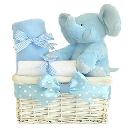 Mi primer oso elefante bebé de regalo cesta/Cesta para bebé/niños ...