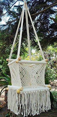 Baby hanging chair handmade macrame cotton beige/ Indoor - Hammock Macrame