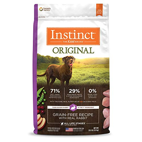 Instinct Original Grain Free Recipe with Real Rabbit Natural Dry Dog Food by Nature's Variety, 20 lb. Bag (Mixing Dry Dog Food With Raw Meat)