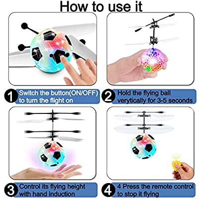 GBD 2 Pack RC Flying Ball Toys for Kids Boys Girls Teens Holiday Birthday Gifts Light Up Ball Drone Infrared Induction RC Helicopter with Remote Controller for Indoor and Outdoor Games: Toys & Games