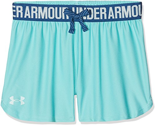 Under Armour Kids Girl's Play Up Shorts (Big Kids) Tropical Tide/Moroccan Blue Large by Under Armour