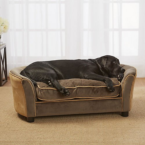Enchanted Home Pet Ultra Plush Panache Pet Sofa In Mink Brown