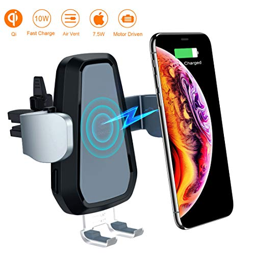 VANMASS Wireless Car Charger, 10W Qi Fast Charging, Universal Car Air Vent Mount Phone Holder Auto Motor Compatible Samsung Galaxy S8/8+, S9/9+, Note8, iPhone 8/8 Plus/X More. -