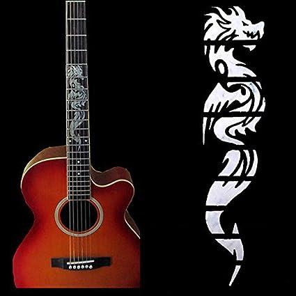 Accesorio de diapasón guitarra eléctrica china dragón pegatinas decoración para principiantes coleccionistas