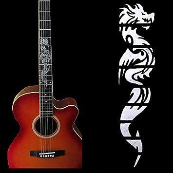 Accesorio de diapasón guitarra eléctrica china dragón pegatinas decoración para principiantes coleccionistas: Amazon.es: Instrumentos musicales