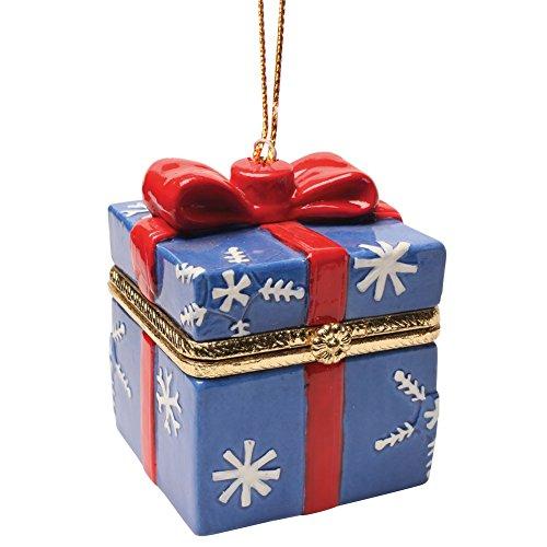 Bandwagon Christmas Decoration - Porcelain Surprise Ornaments Box - Snowflake Box