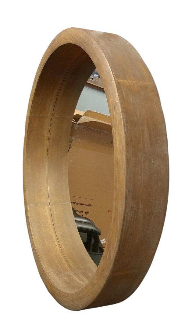 Privilege 11084 Round Wood Mirror by Privilege (Image #2)