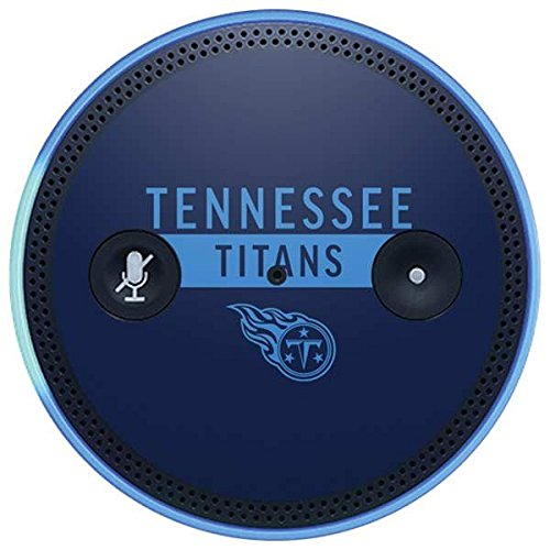 Skinit NFL Tennessee Titans Amazon Echo Plus Skin - Tennessee Titans Navy Blue Performance Series Design - Ultra Thin, Lightweight Vinyl Decal Protection