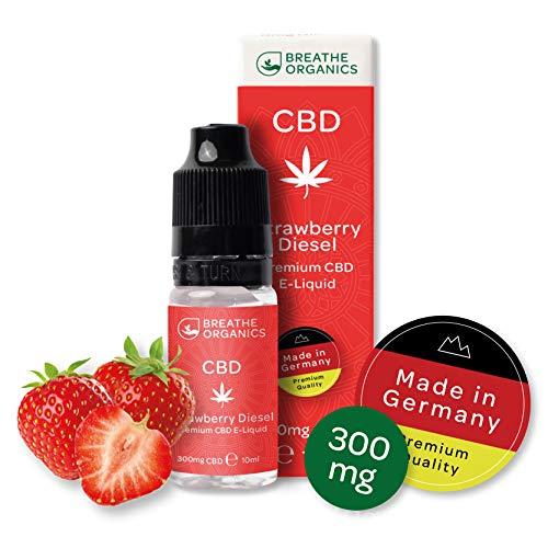 Premium CBD Liquid Strawberry Diesel von Breathe Organics® | E Liquid ohne Nikotin mit 300 mg CBD | 100% natürliche…