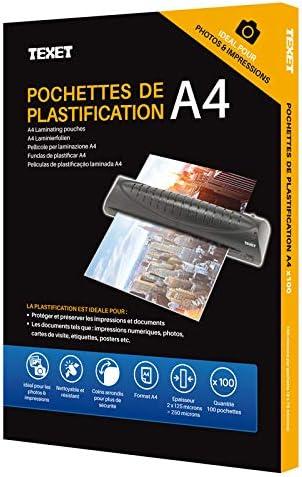 confezione da 100 Texet plastificazione A3/250/micron