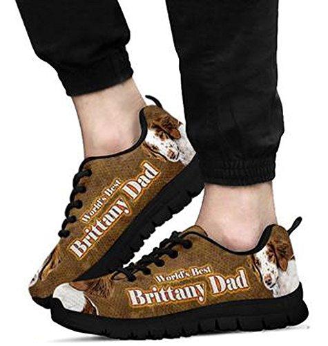 Dog Brittany Brand Men's 5 Casual Black 9 Sneakers Print Amazing qE7nAxwHn6
