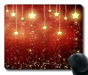 Red All Over The Sky Star Cool Comfortable Gaming Mouse Pad