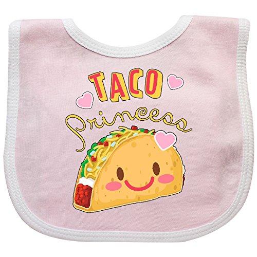 Inktastic Taco Princess- Cute Taco Baby Bib Pink/White
