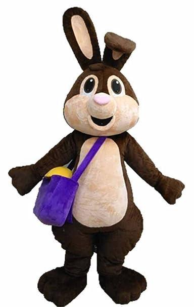 Amazon.com: 100% Real Mascot café conejo de Pascua traje ...