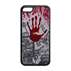 6 4.7 Phone Cases, Bloody Hand Hard TPU Rubber Cover Case for iphone 6 4.7