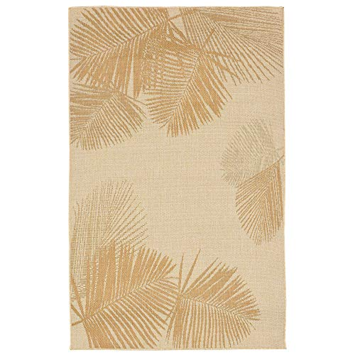 Liora Manne TER45179212 Botanical Tropical Leaves Terrace Casual Palm Indoor/Outdoor Rug, 39