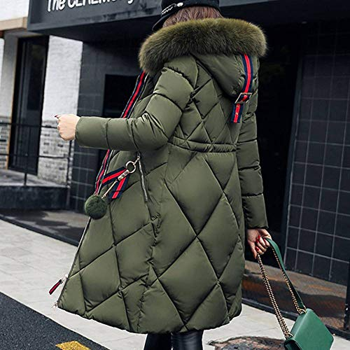 Parka Down Long Parka Meedot Padded Coat Jacket Outwear Military Puffer Windproof Hooded Hood Women Olive tqHtAwFT