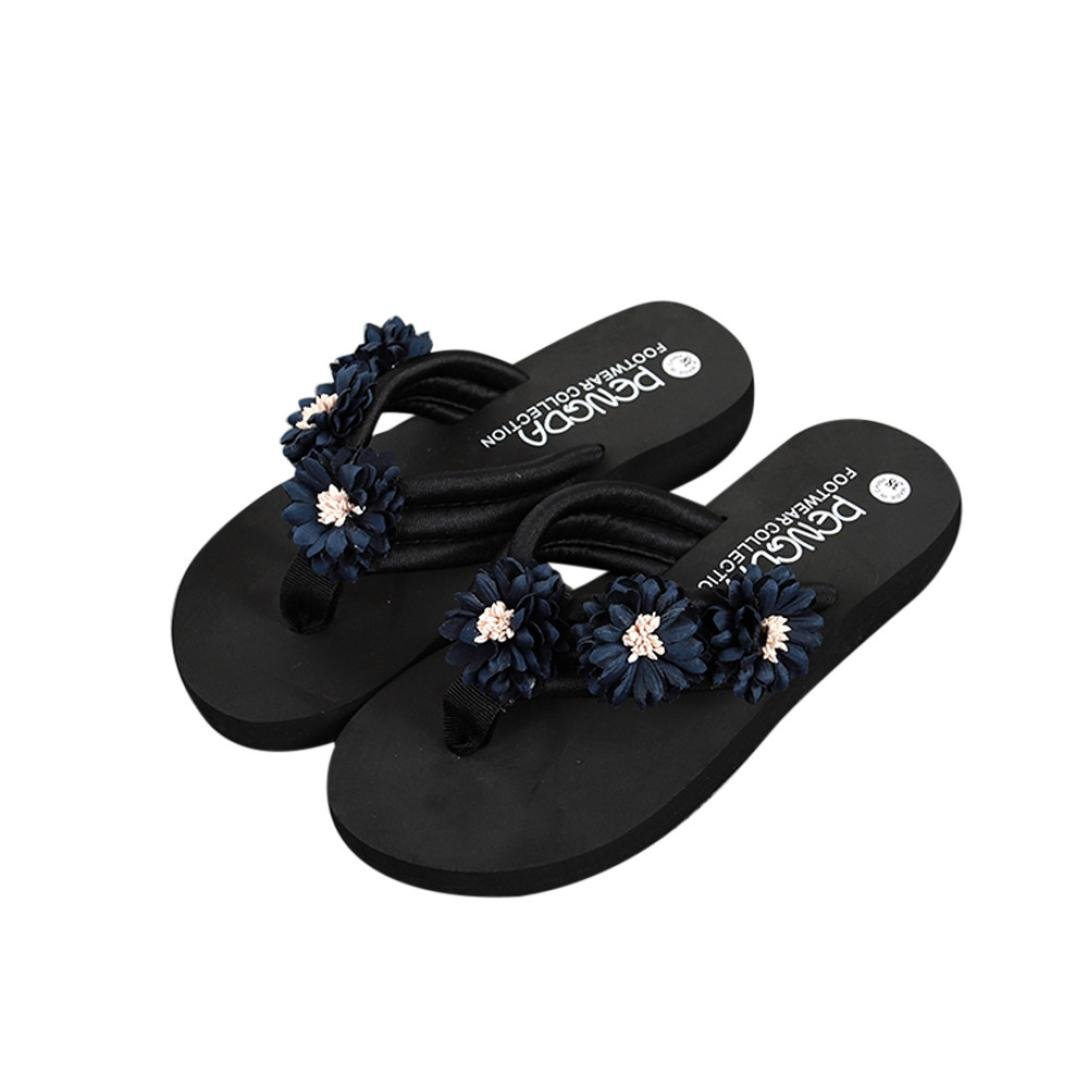 42c840566 Amazon.com  Voberrycolorful Summer Fashion Slippers Sandals with  High-heeled Platform Sandals  Clothing
