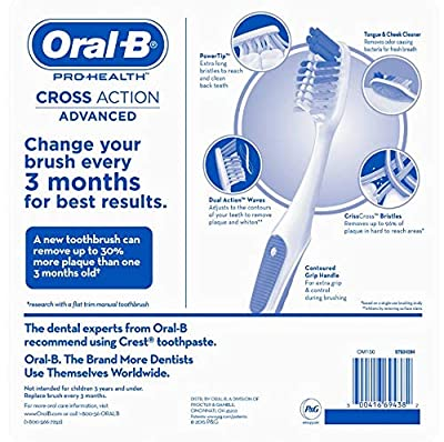 Oral-B Pro-Health Cross Action Advanced Toothbrush, 8 Pack