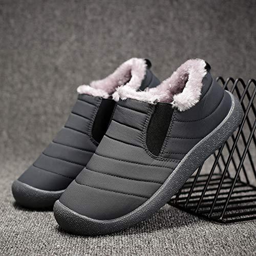 AIMENGA Hommes Chaussures d'hiver Nouvelle Grande Taille Coton Chaussures Hommes É paisse Chaud Casual Hommes Chaussures Impermé able Bottes De Neige XHMENG