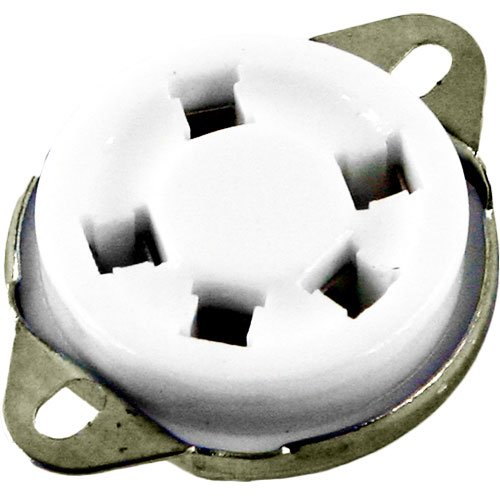 "5 Pin Ceramic Vacuum Tube Socket, 1.5"" Mounting Center, Bottom Mount"