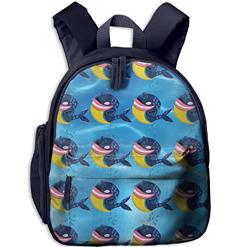 (Children Pre School Backpack Boy&girl's Funny Whale Book Bag)