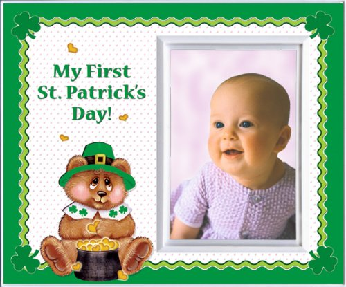 My First St. Patricks Day Picture Frame Gift and Decor -