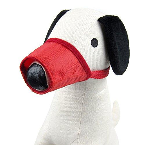 Alfie Pet by Petoga Couture - Calan Adjustable Quick Fit Nylon Muzzle - Color: Red, Size: Medium (Red Muzzle)