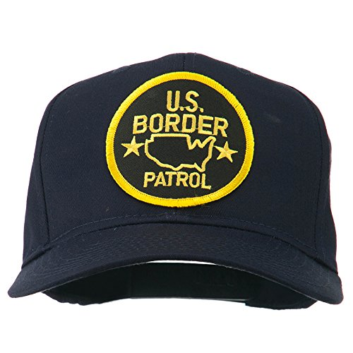 Border Patrol Baseball Hat - e4Hats.com US Border Patrol Embroidered Patch Cap - Navy OSFM