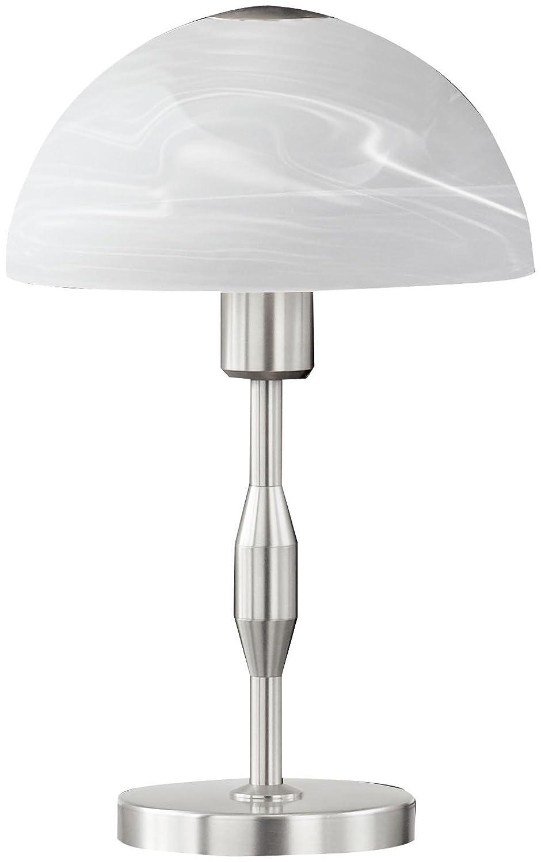 Honsel Leuchten 57941 57941 57941 Tischleuchte mattnickel Glas alabasterfarbig weiß c84c9b