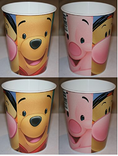 Disney Winnie the Pooh Plastic Cups with Face of Pooh Tigger Piglet Eeyore - 4 -
