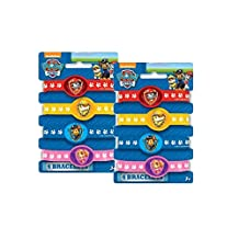 Paw Patrol Birthday Party Rubber Bracelets - Package of 8