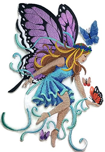 Custom and Unique Magical Fairy Collection [ Lady of The Butterflies] Embroidered Iron on/Sew patch [ 6.83 10 ] [Made in - West Mall Town