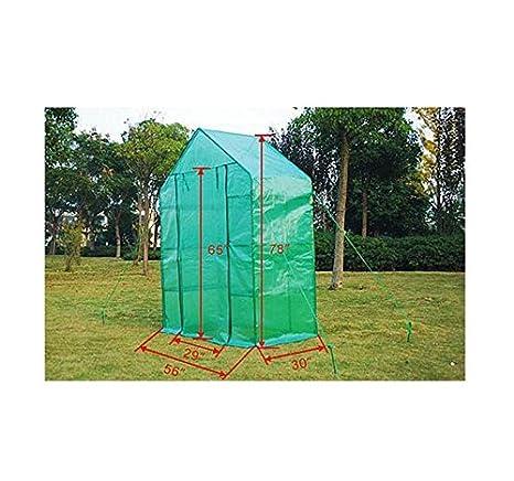 HOMCOM Invernadero 142x76x198 cm 8 Estantes Caseta Tubo Acero Cultivo Plantas Jardin: Amazon.es: Hogar