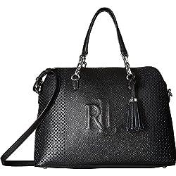 LAUREN Ralph Lauren Women's Dome Satchel Black One Size