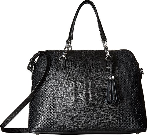 LAUREN Ralph Lauren Women's Dome Satchel Black One Size