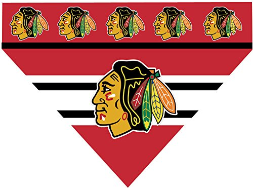 NHL Chicago Blackhawks Over the Collar Dog Bandana (LARGE)