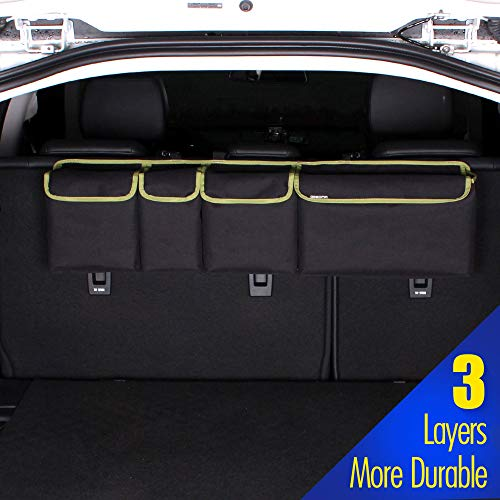GEEDAR Backseat Trunk Organizer for SUV,Hatchback Car,Truck, Auto, Minivan, Jeep, Groceries and Home Storage Organizer Cargo Organizer Backseat Storage Bag with Lid