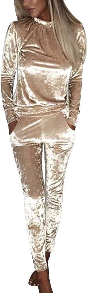 Womens Ladies Crushed Velour Velvet Tracksuit Sweatshirt Joggers Sport Gym 2 Piece Outfit Loungewear UK 6-16