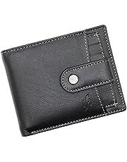 STARHIDE Mens RFID Blocking Genuine Leather Wallet with Removable Slim Card Holder 1125