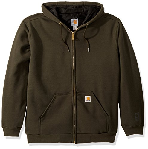 Carhartt Men's Rain Defender Rutland Thermal Lined Hooded Zip Sweatshirt, peat, X-Large ()