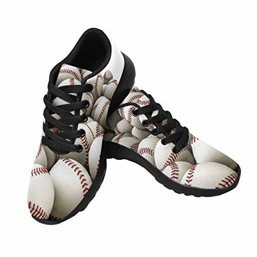 D-Story Jogging Running Sneaker Seamless Pattern Baseball Womens Casual Comfort Sports Walking Running Shoes Black f6gYt4g