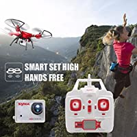 Hongfei (EU Plug) Rc Quadcopter With Camera, 1080P 8MP Camera and High Hold Mode 2.4G 4CH 6Axis Drone For Good Choice for Drone Training