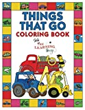 Things That Go Coloring Book with The Learning Bugs: Fun Children s Coloring Book for Toddlers & Kids Ages 3-8 with 50 Pages to Color & Learn About Cars, Trucks, Tractors, Trains, Planes & More