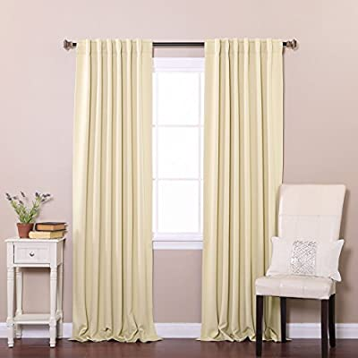 "Best Home Fashion Basic Thermal Insulated Blackout Curtains - Back Tab/Rod Pocket - Black - 52"" W x 63"" L (Set of 2 Panels) - Features an innovative triple weave fabric construction to block out sunlight and harmful UV rays. Insulates against the heat and cold, saving you money & energy. Laboratory-tested innovative fabric construction that insulates against the cold. Energy efficient, insulation, noise reduction, improve sleep, high quality. Header Size: 0.5 inches / Hem Size: 2 inches - living-room-soft-furnishings, living-room, draperies-curtains-shades - 5104iqTALAL. SS400  -"