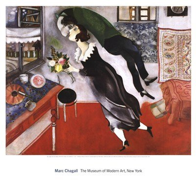 Marc Chagall Birthday Art Print Poster