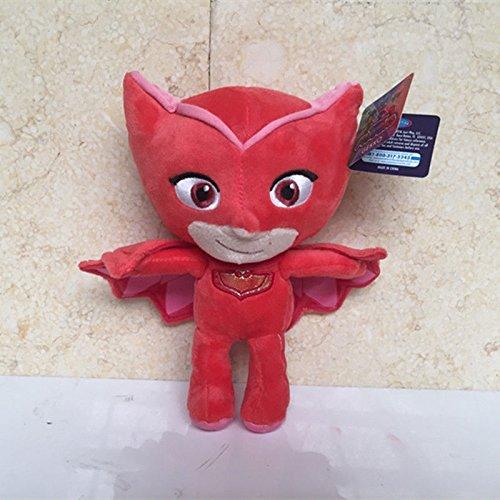 Super Villains Costumes Uk (Just Play Masks Bean Owlette Plush 20CM)