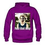 Soulya Women's American Beauty American Psycho Fall Out Boy Swag Hoodies Sweatshirt Size XXL US Purple