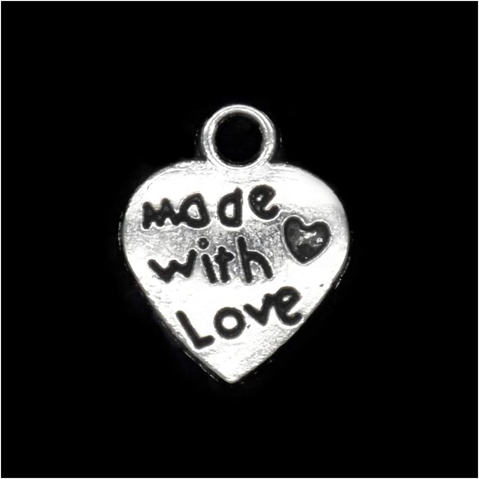 50 Tibet Silver Best Friend Heart Charms Pendants Necklace Jewelry Findings