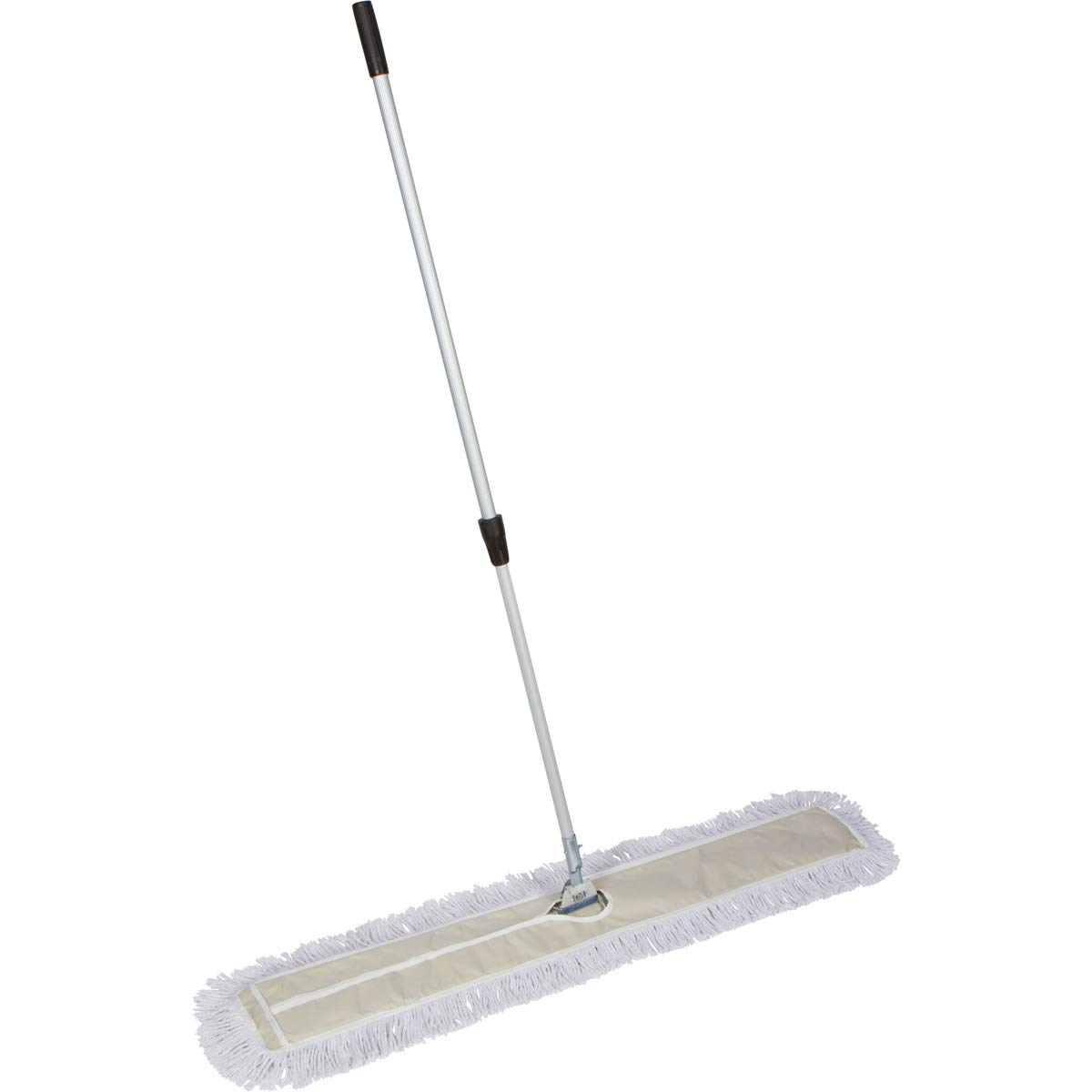 Tidy Tools 48 Inch Industrial Strength Cotton Dust Mop with Extendable Metal Telescopic Handle and Frame. 48'' X 5'' Wide Mop Head with Cut Ends by Tidy Tools (Image #1)